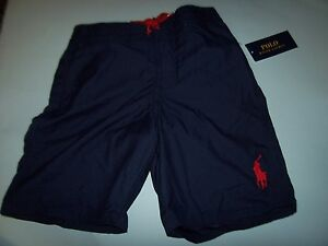 2ef80b8406ddb New Polo Ralph Lauren navy blue boys youth swimsuit board shorts ...