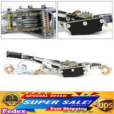 Heavy Duty Power Puller 5 Ton Capacity Come Along Cable Puller 3 Hooks 2 Gears