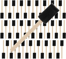 Durable and Great for Acrylics Value Pack of 40 Crafts Stains Tuneway 2 inch Foam Sponge Wood Handle Paint Brush Set Varnishes - Lightweight Art