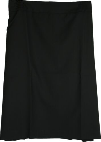Simon Jersey Fully Lined Wool Mix Skirt Black