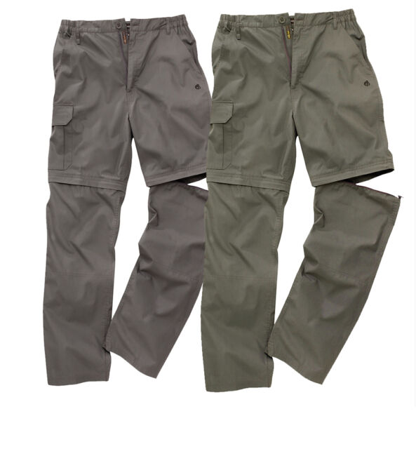 Craghoppers Basecamp Zip-Off Men's Trousers Walking Hiking Convertible Shorts