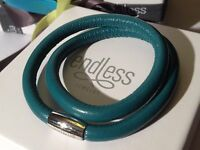 Endless Jewelry 38cm Green Bayou Bracelet Double Strand Silver Clasp Rrp £50