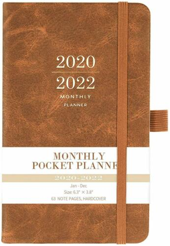 Three Year Pocket Monthly Calendar NEW 2020-2022 Monthly Pocket Planner
