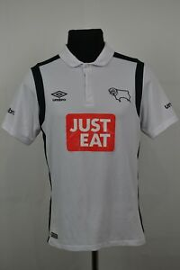 DERBY-COUNTY-2016-2017-HOME-FOOTBALL-SHIRT-JERSEY-UMBRO-SIZE-SMALL-S