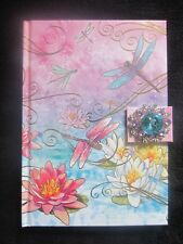 Punch Studio Notebook Journal Diary- Gorgeous colors- Dragonfly, Flowers