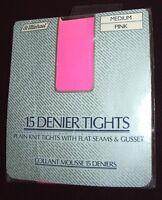 "Vintage 1980s St. Michael 15 Denier Tights : Size 2 Medium : 34""-42"" Hip : Pink"