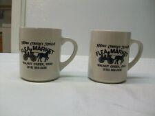2 Holmes County's Amish Flea Market Coffee Mugs/Cups - Walnut Creek, Ohio