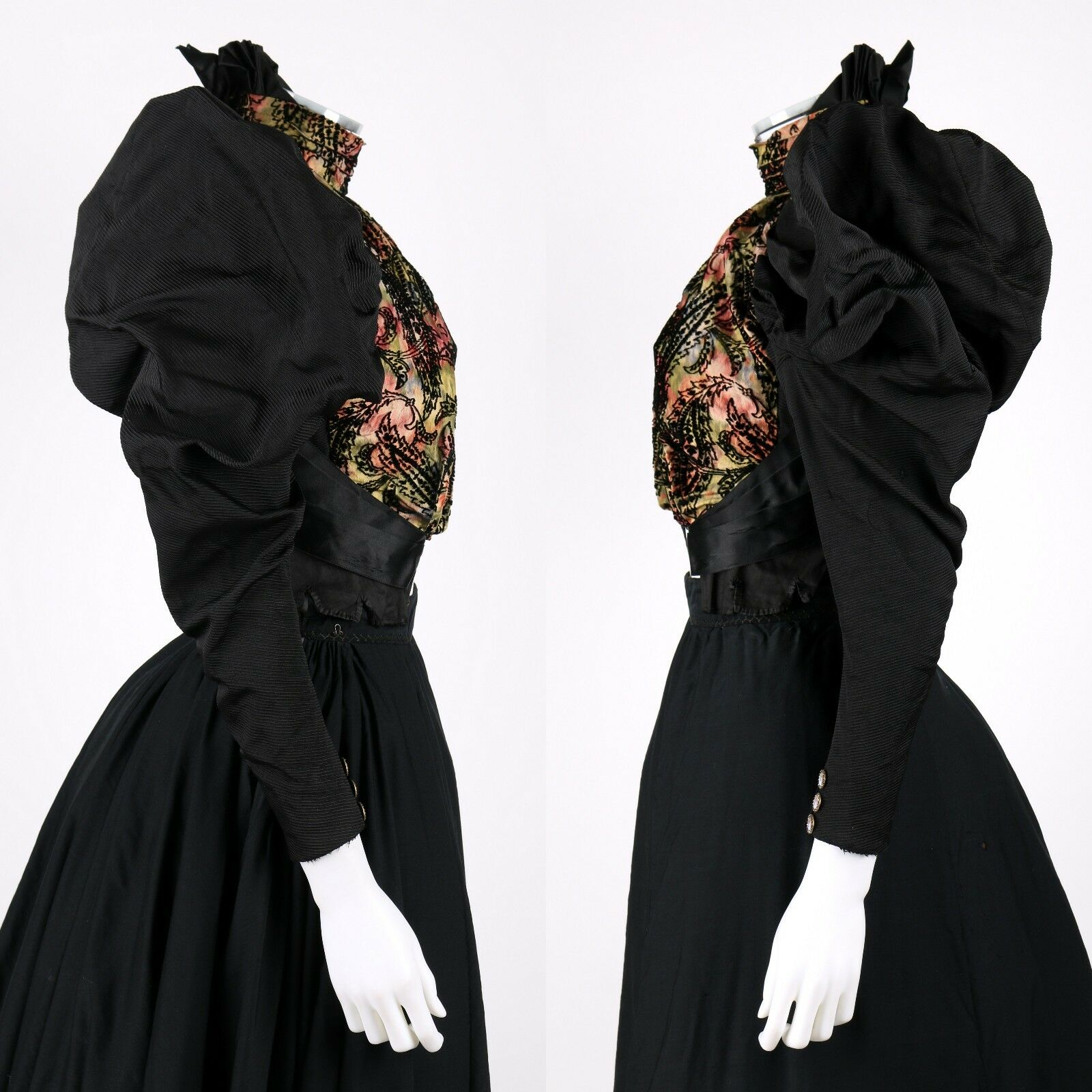 VICTORIAN Couture c.1890's Bodice Bustle Skirt Dr… - image 4