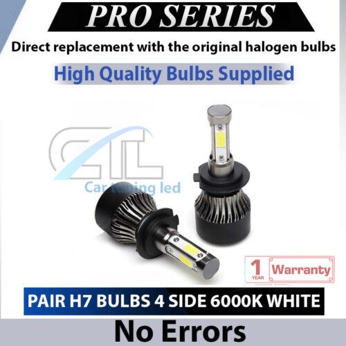2x H7 Led Headlight 110W Bulbs 6000K White 11000LM Low Beam Hyundai I30 07-16