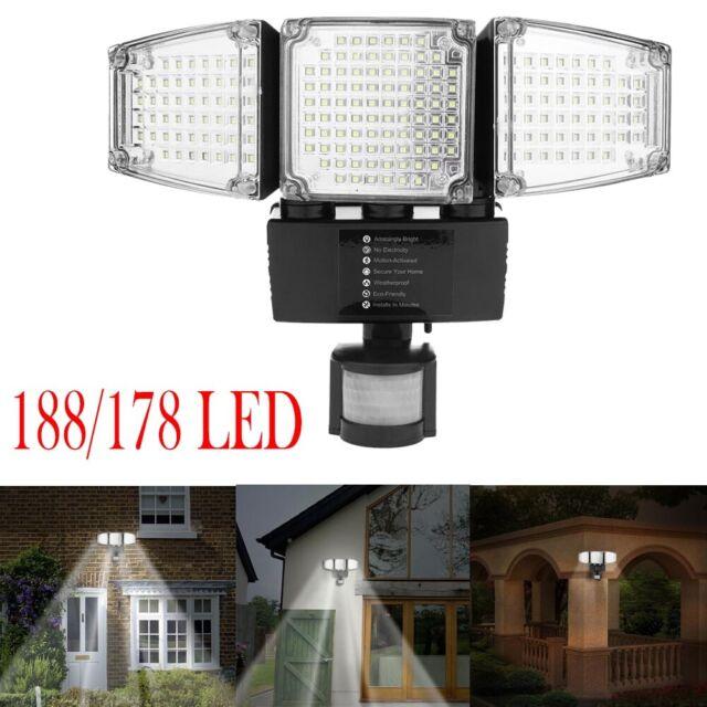 178/188LED Solar Außen Garten Motion Sensor Sicherheit Flutlicht Gut Lampe Lot