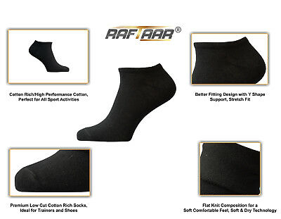 Neue Mode Raftaar® Sport Black Unisex Premium Summer Ankle Trainer Shoe All Active Socks üBerlegene (In) QualitäT