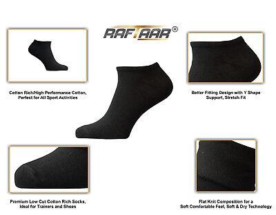 Gehorsam Raftaar® Sport Black Unisex Premium Summer Ankle Trainer Shoe All Active Socks Stabile Konstruktion