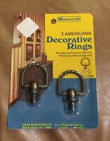 ❤️vintage Decorative Homecraft (2) Rings Americana & Cornet Made In Usa