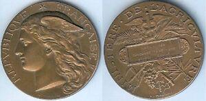 Medaille-de-table-AGEN-1886-espece-bovine-PONSCARME-d-50mm-bonze-corne