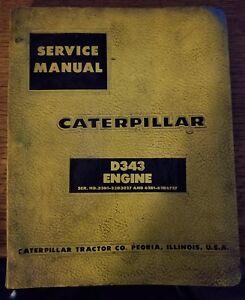 cat caterpillar d343 diesel engine service manual repair shop book rh ebay com caterpillar d343 service manual pdf caterpillar d343 engine manual
