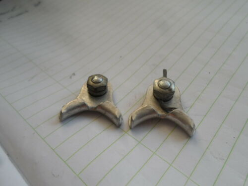 2 VINTAGE MAFAC BICYCLE CENTER PULL BRAKE CABLE HANGERS
