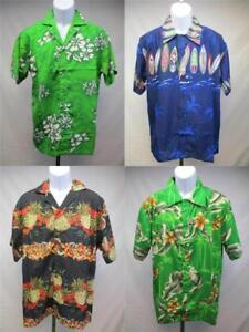 New-Hawaiian-Surf-Board-Pineapple-Hibiscus-Flowers-Mens-Size-S-M-L-XL-Shirt