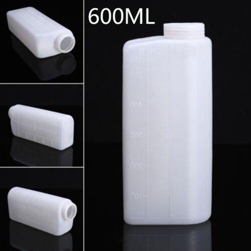 Weiß Öl-Mischflasche 40 1 Nylon 600ML Benzin Kraftstoff Behälter Heiß