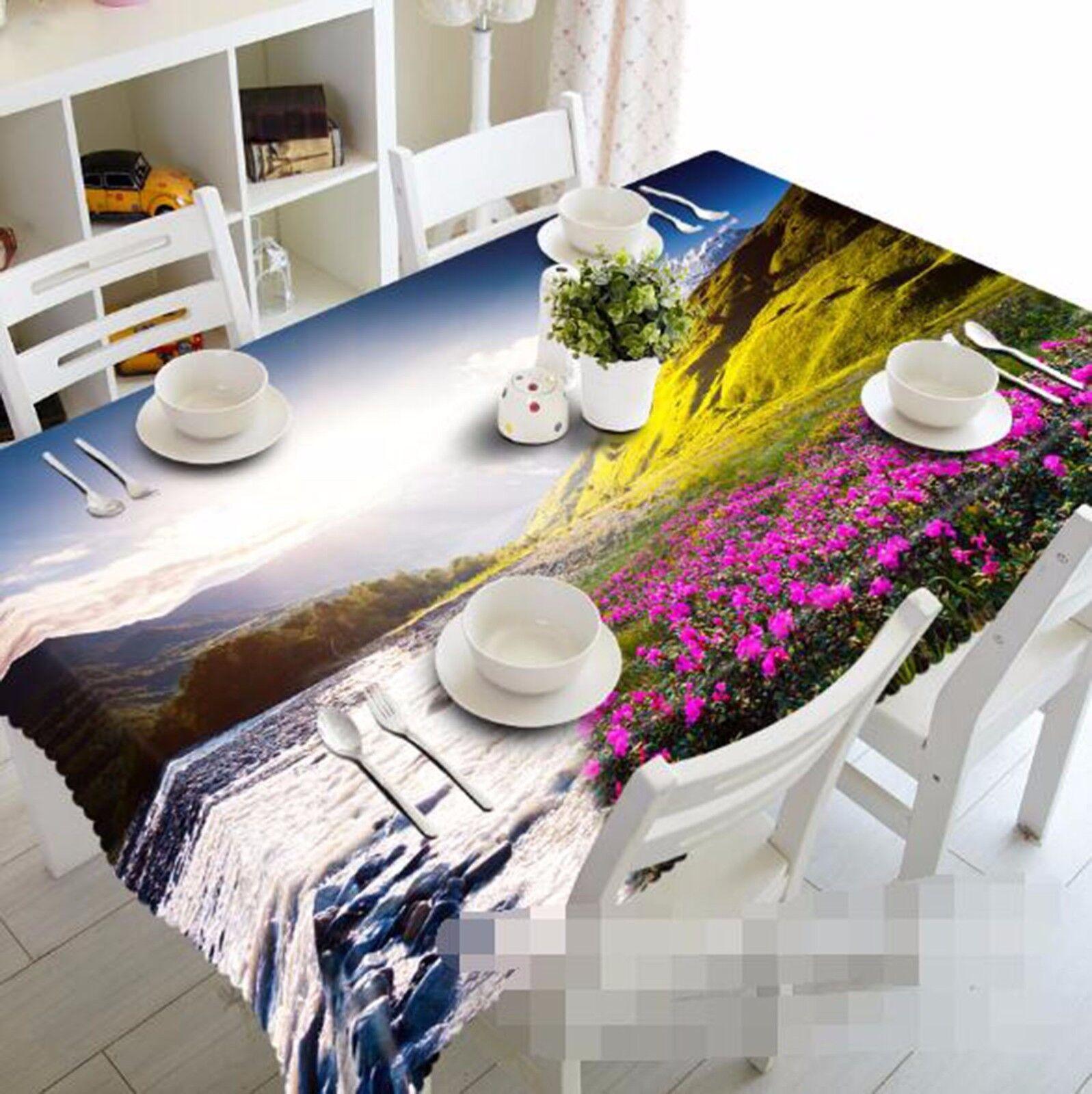 Fleurs 3D 417 Nappe Table Cover Cloth fête d'anniversaire AJ papier peint Royaume-Uni Citron
