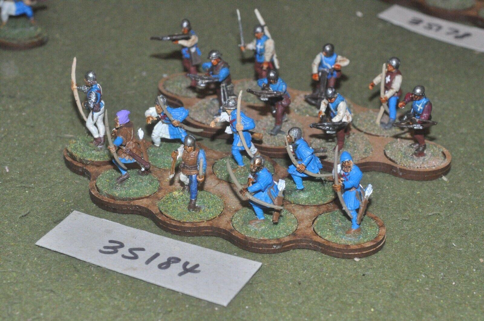 25mm medieval   burgundian - archers & crossbowmen plastic glued 16 - (35184)