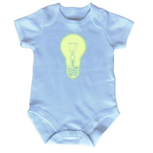 FUNNY BABY Infants Babygrow ange combinaison-Ampoule Glow in the Dark