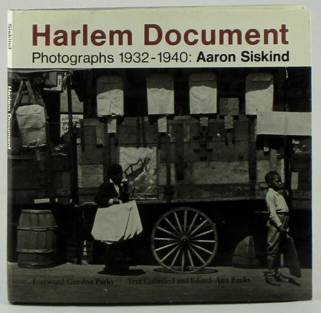 Harlem Document 1932-1940 Aaron Siskind first edition New York Photo League
