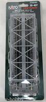 N Scale Double Truss Bridge 9-3/4 - Silver - Kato Unitrack 20-437