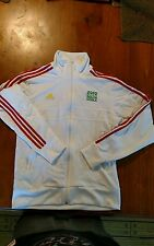 ADIDAS 2010 FIFA World Cup South Africa Moc Neck White Track Jacket Size M