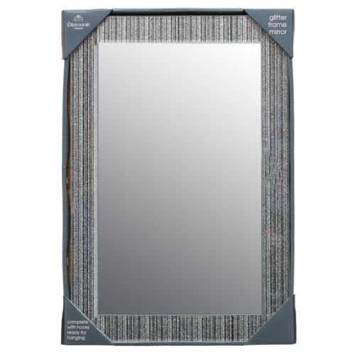Nouveau paillettes cadre miroir chambre/salle de bain utilisation dimensions: 40 x 60cm (env.)
