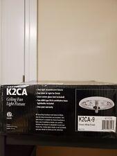 Casablanca Ceiling Fan Center Stem Light Fixture Snow White Finish K33L-11