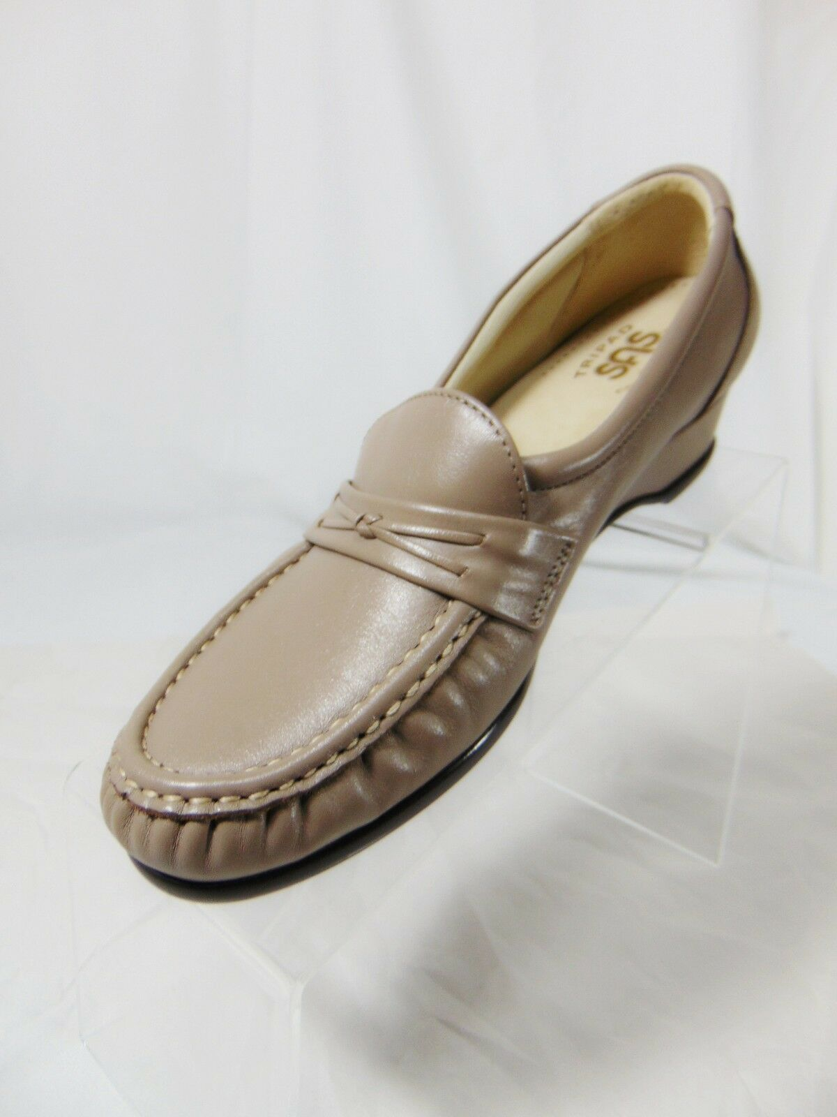 SAS Easier Women's Low Wedge Heel Moccasin Moccasin Moccasin Loafers shoes 7.5 M Mocha Made USA 4f7acd