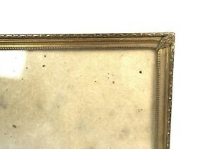 "Vintage Mid Century Ornate Embossed Brass Picture Frame Photo Fits 10"" x 8"""