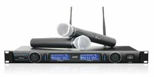 Technical-Pro-wm1201-Professional-2-Kanal-UHF-Dual-Wireless-Microphone-System