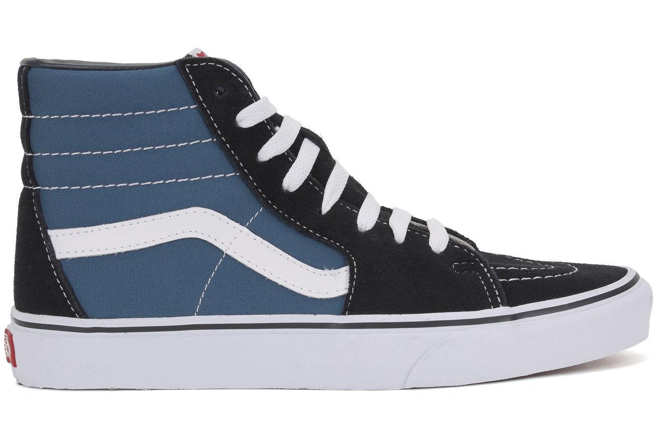 SALE VANS SK8-HI VN0005DINVY UNISEX NAVY nero bianca HIGH HIGH HIGH TOP scarpe Dimensione 9 1dd29d