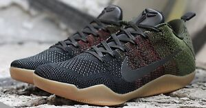 new arrival a4c44 a9dd1 Image is loading Nike-Kobe-11-4KB-Black-Horse-Olive-Gum-