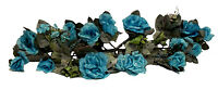 Turquoise Teal Blue Swag Silk Wedding Flowers Arch Gazebo Decor Centerpiece