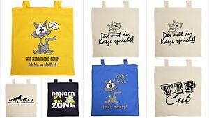 Details Zu Katzen Tasche Lustige Tierische Sprüche Baumwoll Geschenktasche Katzenspruch