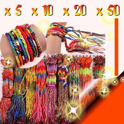 Lot 5x 10x 20 x 50 x 100 x  Bracelet Brésilien Amitié Tressé Style Friendship