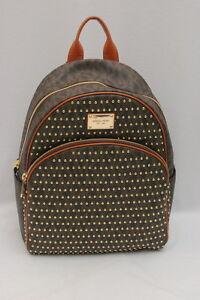 985babb145d0 NWT Michael Kors Jet Set Item Signature PVC Large Studded Backpack ...