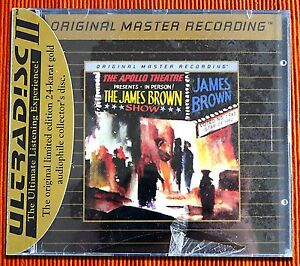 JAMES-BROWN-LIVE-AT-THE-APOLLO-MFSL-Gold-CD-with-J-Card-SEALED