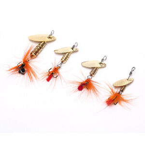 Sequin-Spoon-Fishing-Lures-Metal-Spinner-Feather-Crankbait-2g-3g-4g-Tackle-2Y