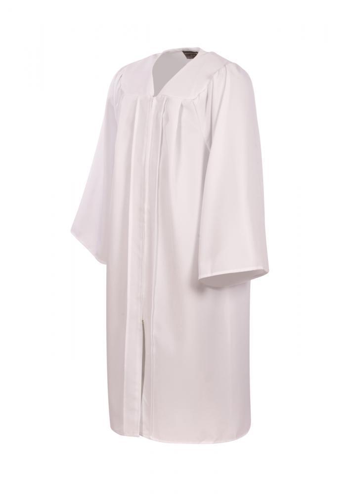Adulte BAPTêME ROBE Peignoir Blanc - BAPTêME ROBE AVEC zippé devant