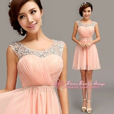 F070 Formal Evening Prom Party Dress Bridesmaid Dresses Ball Gown Short dress