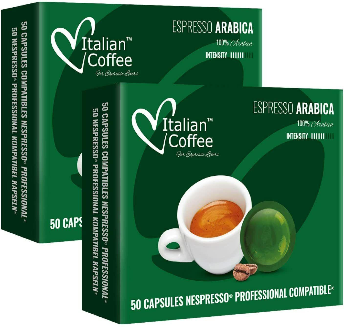 100 Capsulas Compatibles Nespresso Profesional - 100% Arabica