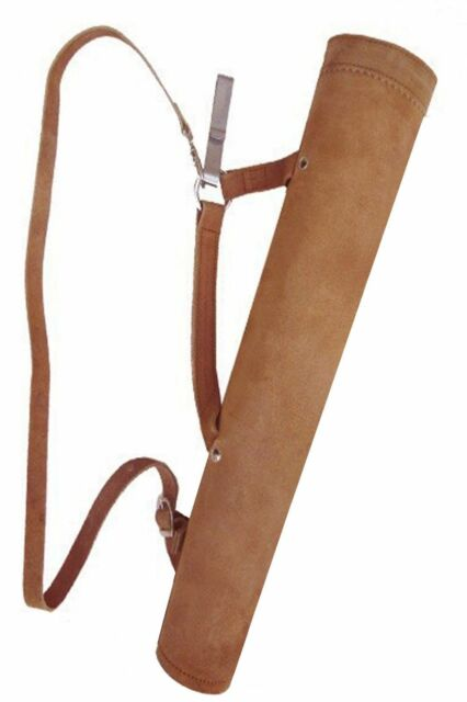 TARGET FINE SUEDE TAN (BACK /SID/ HIP) 2 IN 1 QUIVER ARCHERY PRODUCTS AQ -143