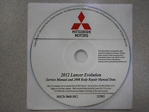 2012 mitsubishi lancer evolution service repair manual cd factory rh ebay com 2015 Mitsubishi Lancer Evolution 2015 Mitsubishi Lancer Evolution