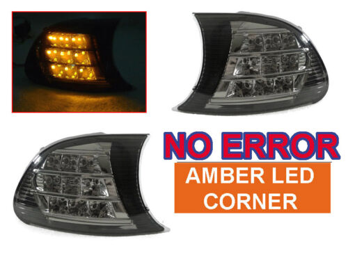 DEPO 99-01 BMW E46 2DR COUPE/CABRIO LCI CLIP ON SMOKE CORNER LIGHTS AMBER LED M3