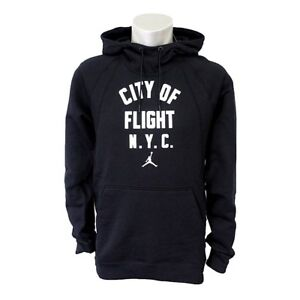 Details about Authentique Nike Air Jordan City Of Flight Pull Over Noir Sweat Capuche Polaire