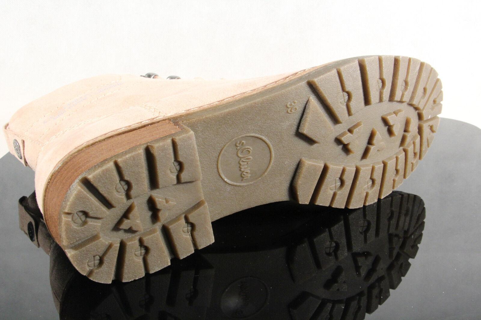 S.OLIVER botas de Cordón Botines Botines Botines botas Botines rosado 26212 Nuevo e518be