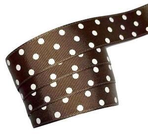 "5 yards black polka dot print 1.5/"" grosgrain ribbon by the yard DIY hair bows"